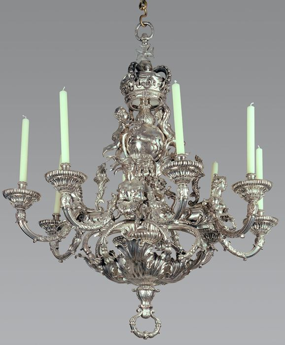 Silver chandelier (Germany, 1735-1736) - Louis XV