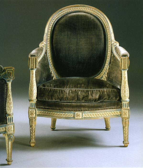 A pair of bergères seats - Louis XVI