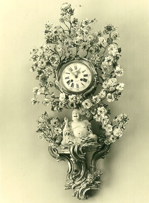 Large cartel clock - Louis XV